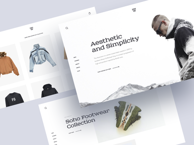 Street Fashion Store Concept brand store adidas nike clothes represent fearofgod kith e-commerce desktop laptop web landing page product page brand collection street fashion wear online store home page web design concept ux ui