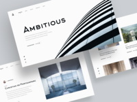Minimalistic Architectural Website Concept