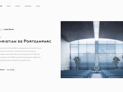 Minimalistic Architectural Website Concept building geometric architect clean modern minimal minimalistic minimalism article projects website architecture social community concept landing page home page web design ux ui
