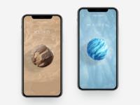 Cosmic Body Research App Concept