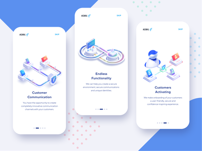 Secure Data App Concept protection technology system server 3d functionality communication customer detailed illustrations theme web app onboarding mobile iphone x iphone xs xr ios secure data concept app ux ui
