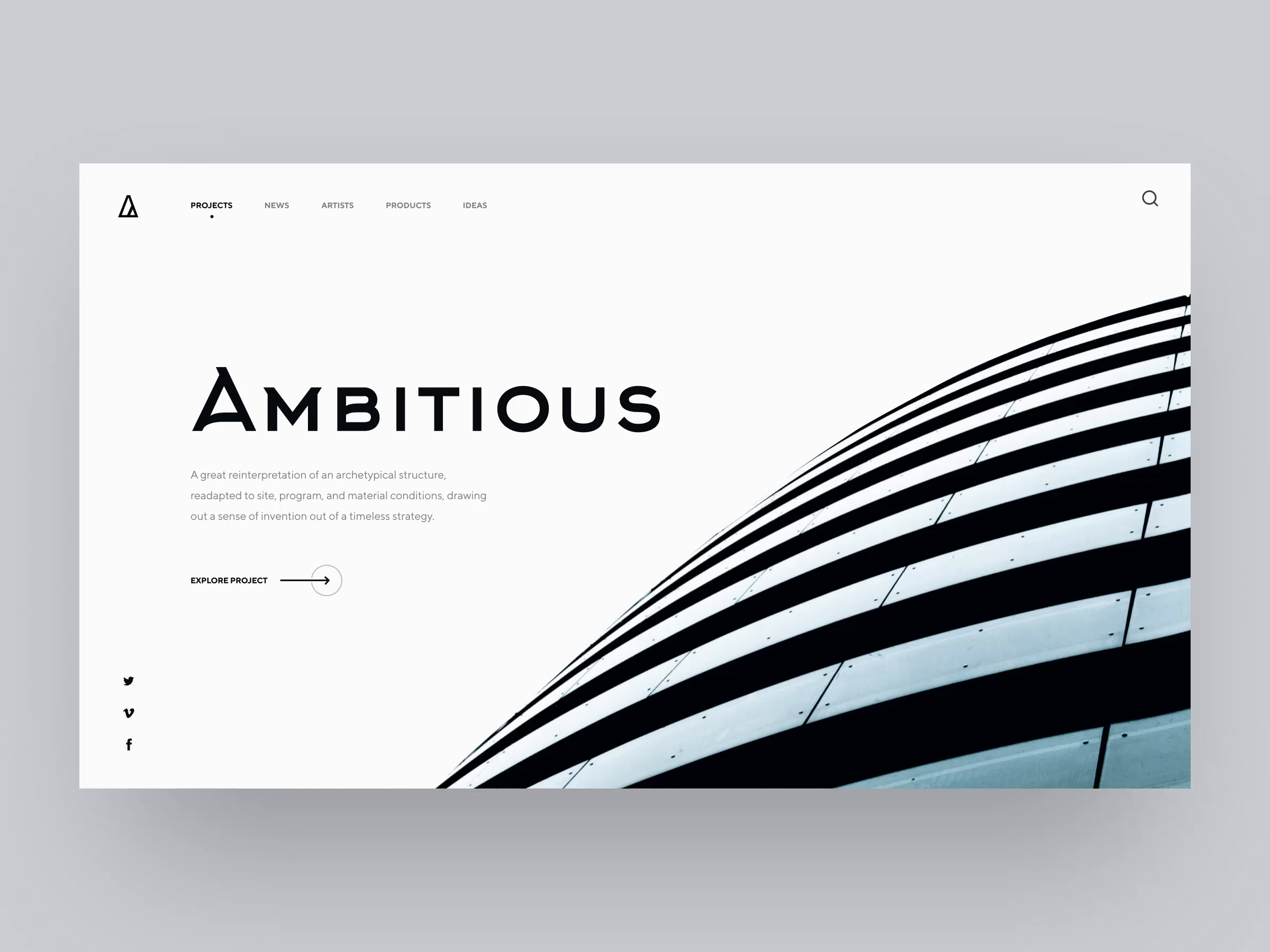 Architectural website home page animation  1
