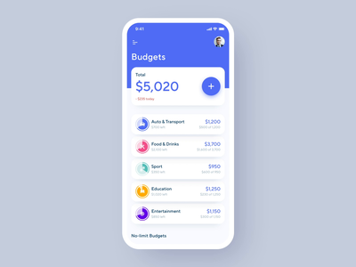 Financial Assistant App Animation statistic status analysis money financial menu budgeting financial assistant ios mobile application animated motion design animation mobile iphone xs xr iphone x ios app ux ui