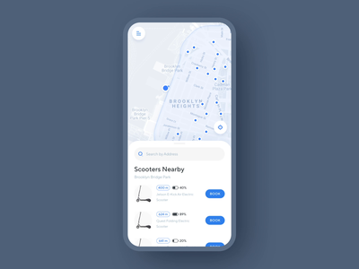 Electric Scooter Share App Animation ux ui taxi social service searching scooter sharing scooter route product design transition motion design animation mobile iphone xs xr iphone x ios app design ios app concept city