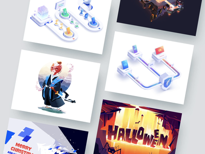 Our Best 2019 Illustrations art loop animation looped loop interaction transition motion graphics motion design best of 2019 best 2019 illustrations illustration animation