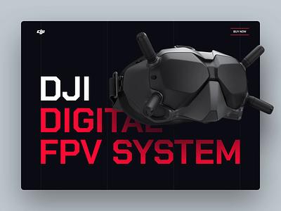 DJI Website Redesign Concept ux ui transition motion design animation fpv racing fui hud gui dji fpv drone redesign concept web design website