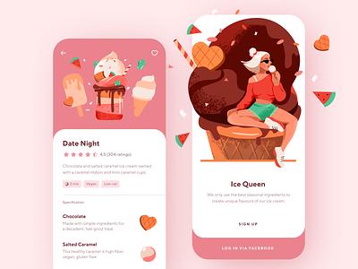 Ice Cream Store App Design shakuro mobile app mobile illustration ios illustration mobile interface mobile ui mobile app