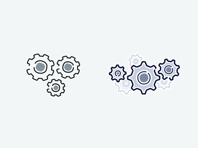 Old > New Cogs tandem colour palette improvements illustration preferences setting gears cogs