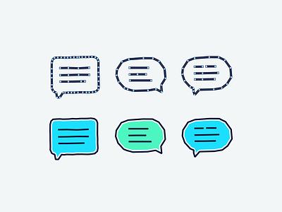 Messaging bubble test vector tandem mockup sketch anchor points test illustration wip design messaging