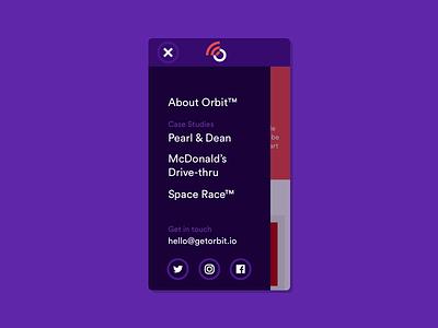 Orbit Mobile Nav mobile nav