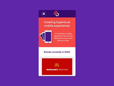 Orbit Landing WIP brand circular colour landing page mobile wip