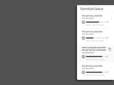 Downloads WIP 2 mockup queue download ui dashboard web wip
