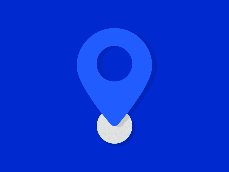 Team Location icon WIP ui blue texture drop pin navigation location icon product