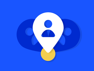 Team Location icon WIP 2 ui texture product navigation location icon pin drop yellow blue