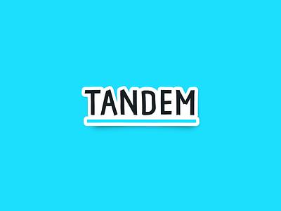 Tandem Bank blue branding logo tandem