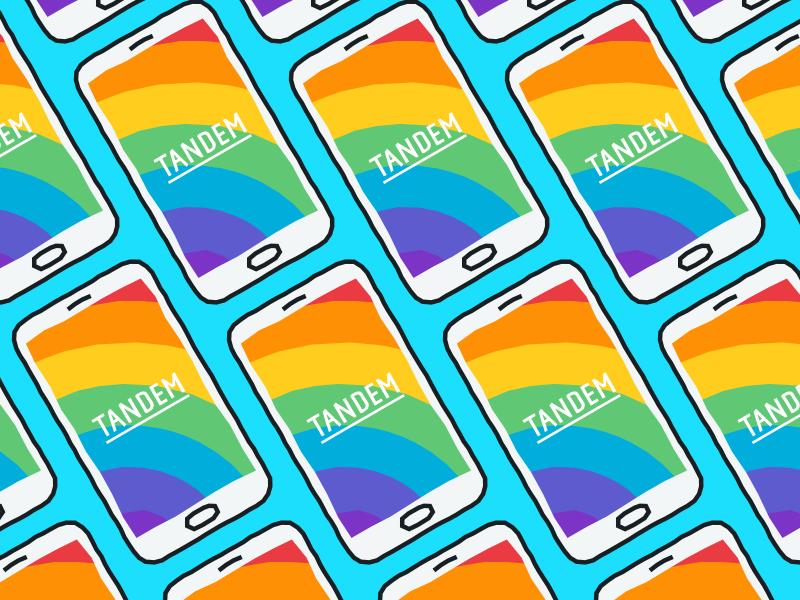 Proud about Pride branding colour app mobile splash screen bank tandem pride