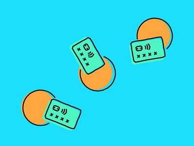Commuting Tips branding illustration travel oyster finance bank challenger fintech tandem colour artwork blog