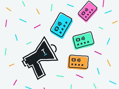 Refer a friend to Tandem 🎉 icon branding illustration referral finance bank challenger fintech tandem colour artwork blog