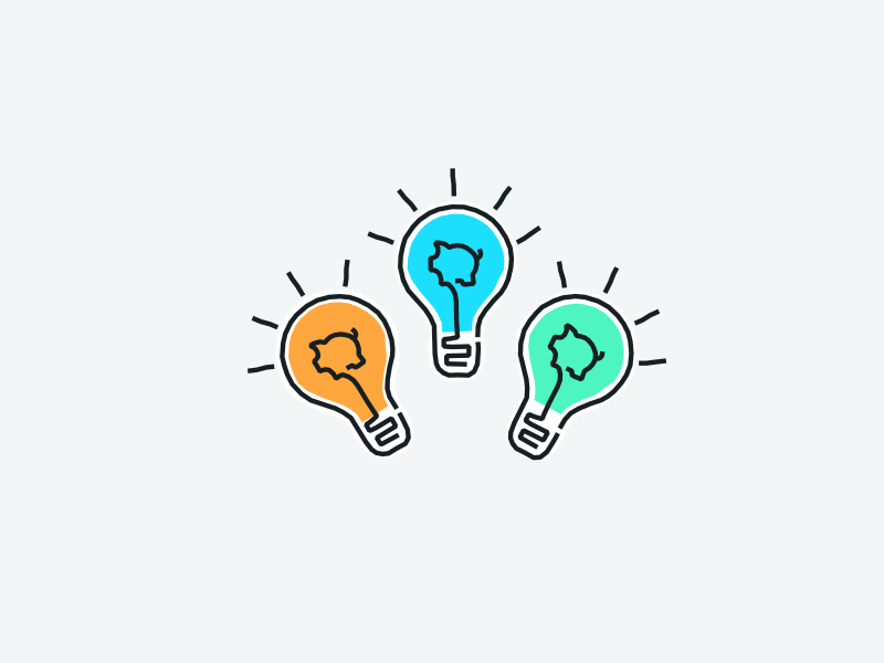 Lightbulb moment ideas lightbulb piggy tandem fintech colour vector design illustration wip