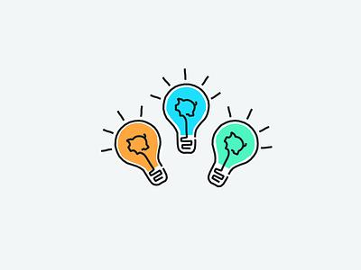 Lightbulb moment ideas lightbulb piggy tandem fintech colour vector design illustration wip