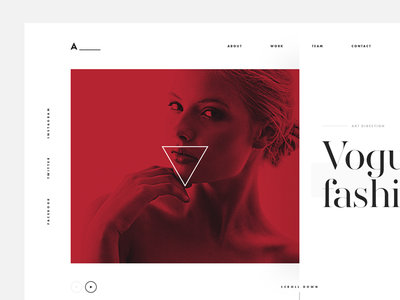 Agency fashion typography futura serif creative webdesign digital duotone design agency