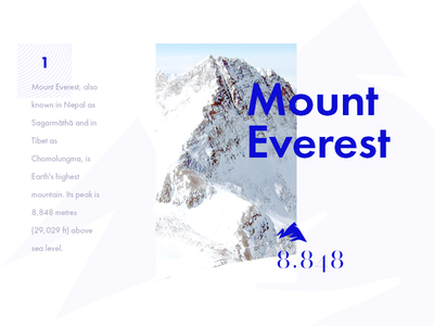 #1 - Mount Everest futura clean design typography