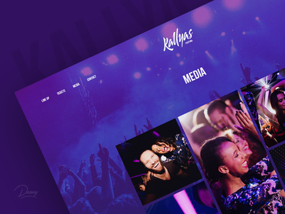 WIP Media Page clean concert ui ux modern colorful typography festival music wordpress kallyas