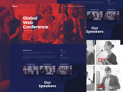 Kallyas - Conference Demo clean concert ui ux modern colorful typography duotone event conference wordpress kallyas