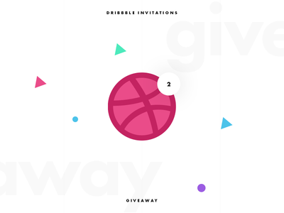 Dribbble Invites Giveaway freebie minimal clean typography ux ui invite giveaway invitation invites dribbble