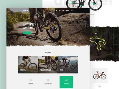 Mountain Bike demo for Kallyas wordpress website typography modern kallyas clean bicycle shop mountain bike