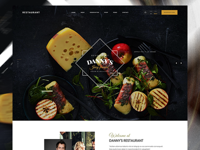 Kallyas Restaurant Demo bistro wordpress food kallyas restaurant userexperience ui ux typography
