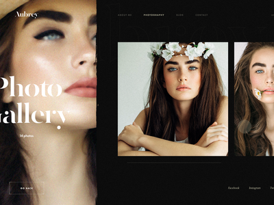 Photo Gallery Page photography website design art contemporary typography