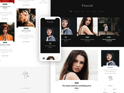 Hannah WordPress Theme for Bloggers hannah wordpress theme clean modern contemporary gutenberg customizer minimal fashion travel lifestyle template design blog blogger typography
