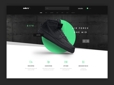 Sneakers Shop for Kallyas WordPress Theme nike shoes ui  ux footwear shop sneakers creative kallyas wordpress modern clean typography