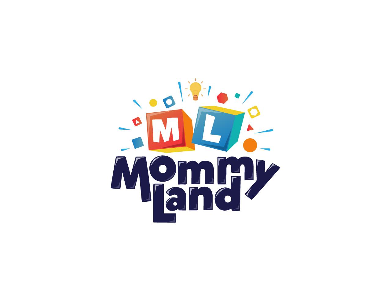Mommy Land Logo mommyland multicolor cube child kids toys логотип illustration logotype logo