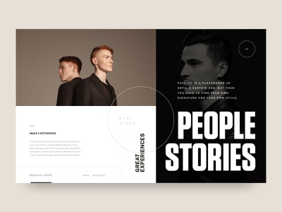 People Stories ecommerce fashion design modern webdesign landing page animation ux typography website minimal web ui clean design simple stories