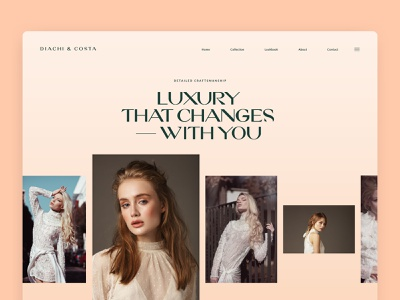 Women's Fashion - Clothing, Shoes, Accessories | Diachi & Costa clean lookbook concept fashion landing page homepage interface layout minimal photography luxury bold typogaphy ux ui webdesign website shop