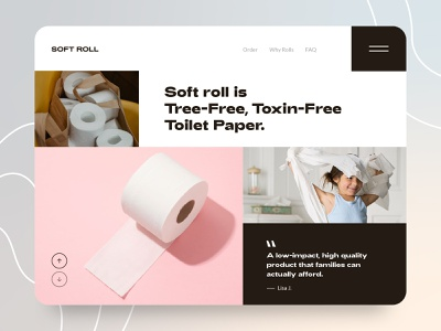 Soft Roll - The very BEST of toilet paper illustraion homepage ecommerce web design landing page ui web design logo modern website ecofriendly bathroom paper toilet paper towels tree tissue paper roll toilet paper