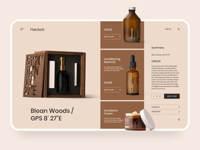 Haeckels Website Design Concept body care hair salon clean ui portfolio website agency digital marketing ux ui shop design web homepage web design ecommerce landing page website fashion perfume cosmetics skincare