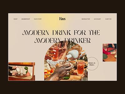 Haus Website concept homepage design grid saas portfolio concept modern food app branding logo illustration minimal landing page clean ux ui website design web food and drink food
