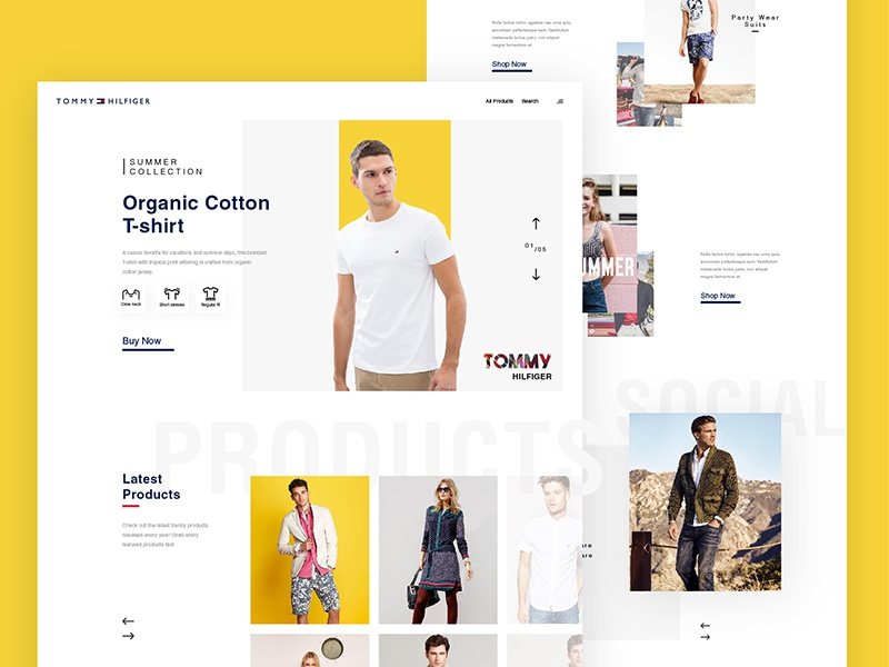 Tommy Hilfiger Homepage concept website tommyhilfiger shop responsive minimalist ecommerce concept clothes clean