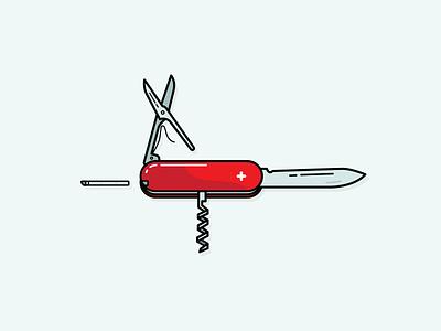 Swiss Army Knife tweezers opener bottle scissor switzerland knife army swiss vector