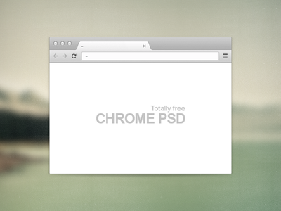 Free PSD - Chrome browser chrome browser free psd freebie google