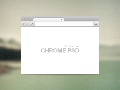 Free PSD - Chrome browser
