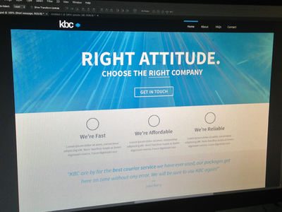 KBC Couriers Website Redesign