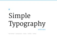 Simple Typography with Sass