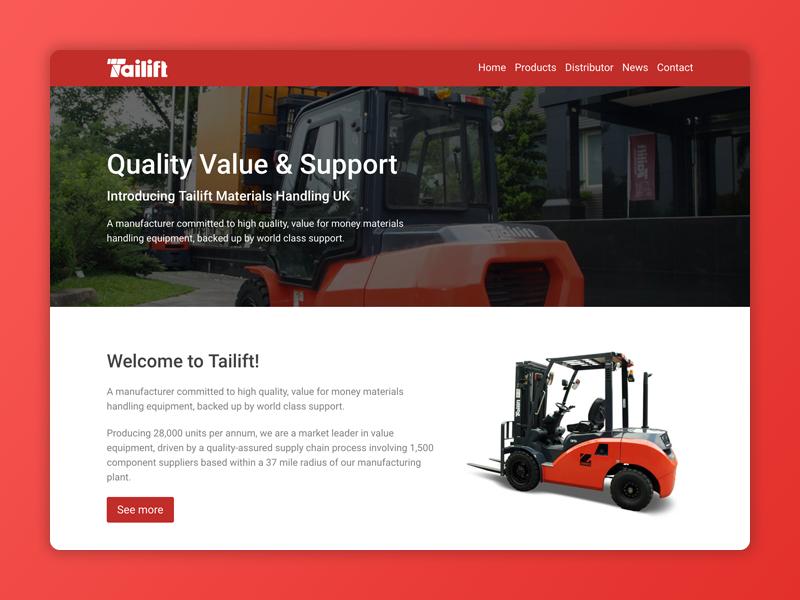 Tailift Website simple responsive web design website