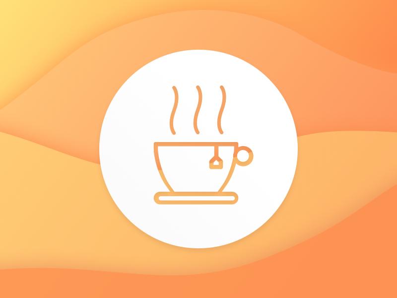 Fancy a Brew? icon logo tea minimal