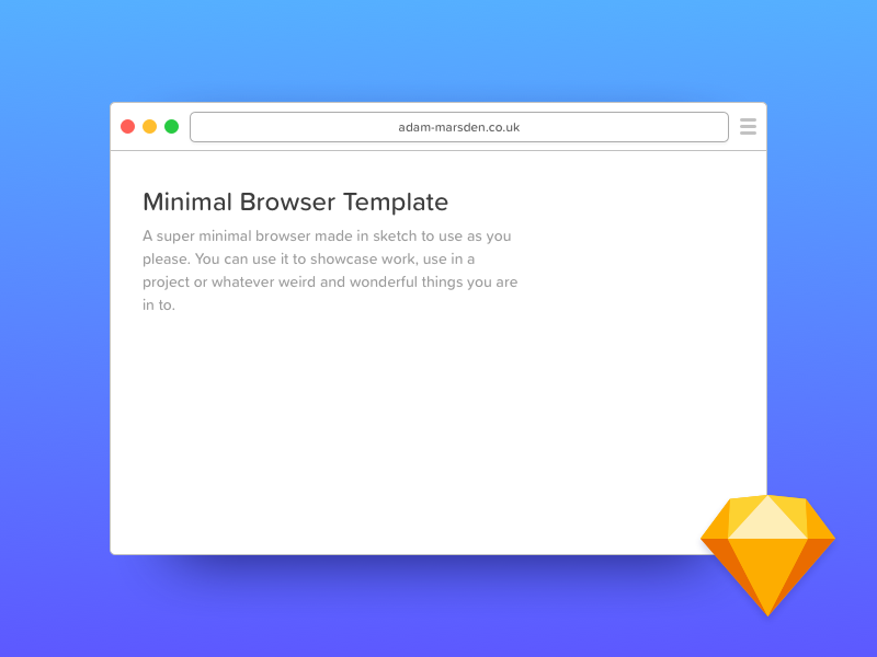 Minimal Browser Template browser window mockup free give away freebie sketch template minimal browser