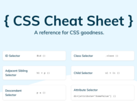 CSS Cheat Sheet - A reference for CSS goodness. vector html css blue website brand minimal